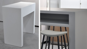 TABLE U-SHAPE WITH SHELF // T-20