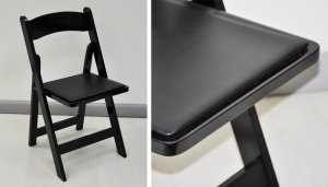 FOLDING LEATHER PADDING CHAIR // S-CH-18