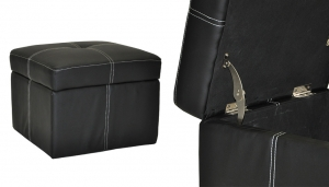 LEATHER OTTOMAN CONTAINER // S-SF-11