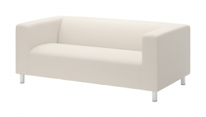 WHITE FABRIC SOFA // S-SF-06
